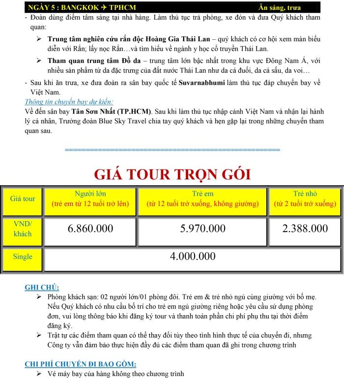BANGKOK-PATTAYA 5N4D-THANG 4-5-3